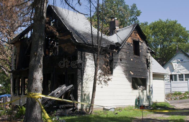 Dommages d'incendie photos stock