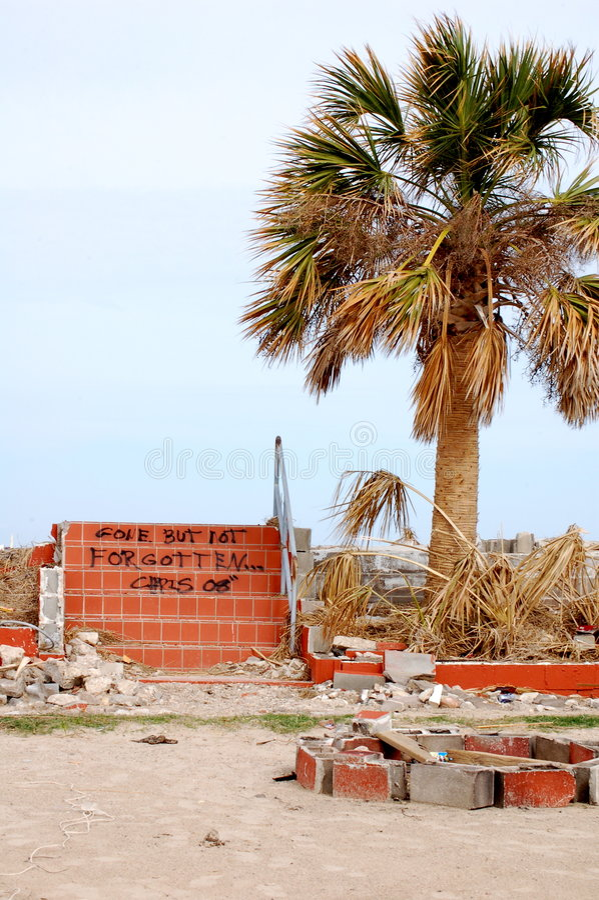 Dommages d'ouragan image libre de droits