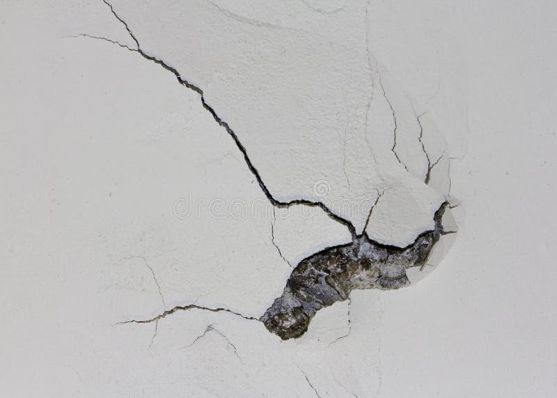 Dommages de mur de plâtre photo stock