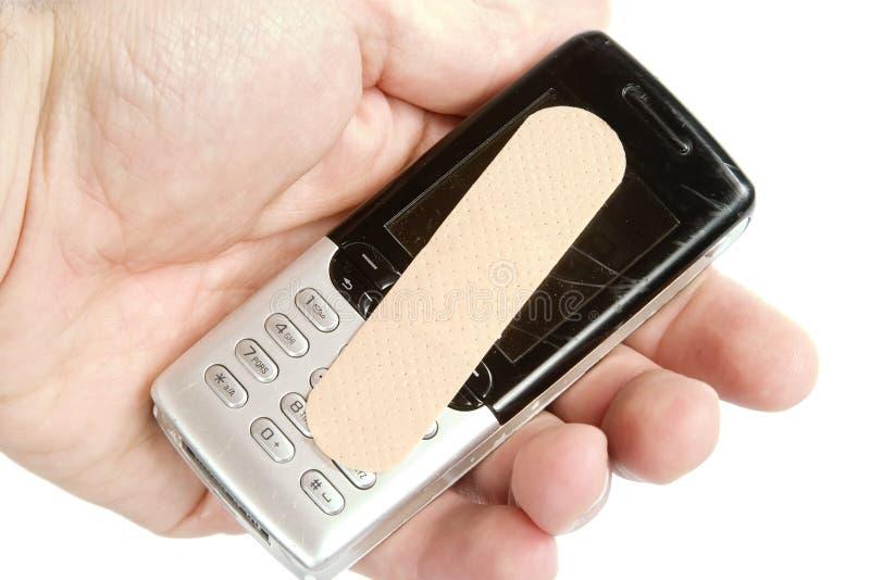 Dommages de téléphone portable photographie stock libre de droits