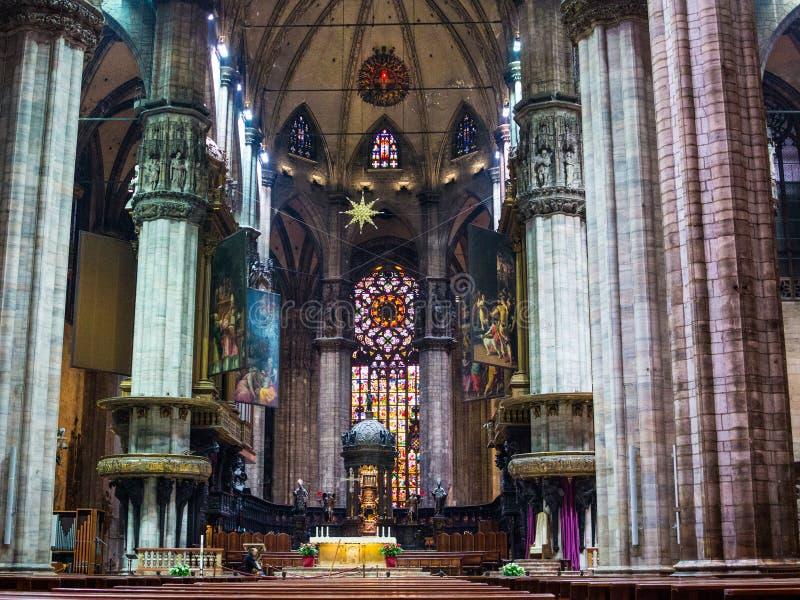 Domo de visita de Milão fotografia de stock