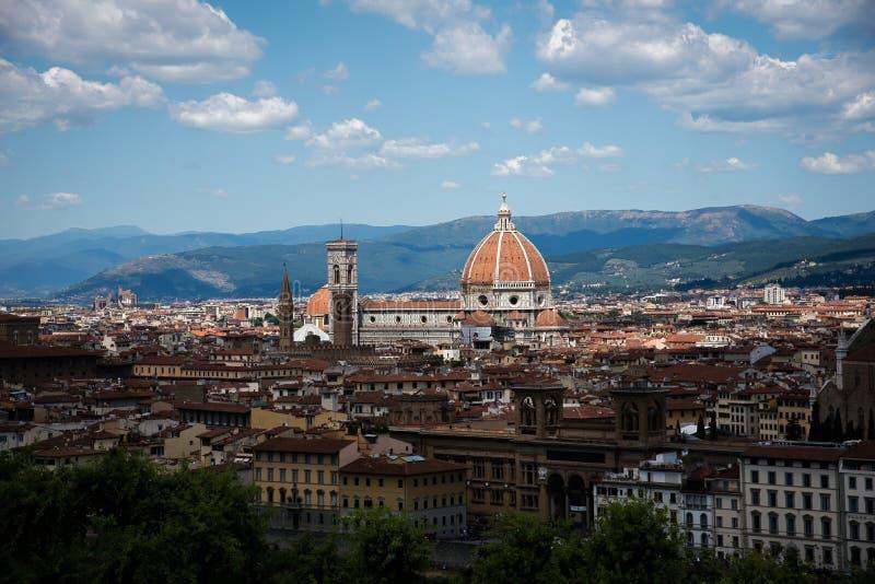 Domo Santa Maria Del Fiore e Bargello em Florença, Toscânia, imagens de stock