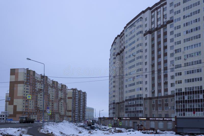 Domodedovo, †de la Russie «le 20 février 2019 : Nouveau secteur Domodedovo, ville satellite de Moscou photo stock