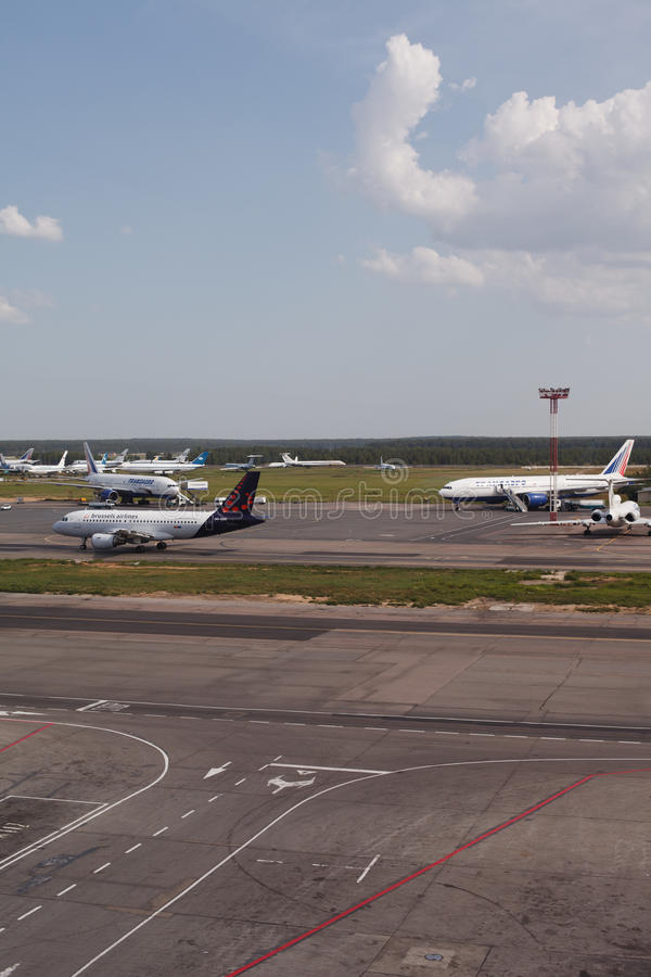 Domodedovo airport in Moscow, Russia stock photography