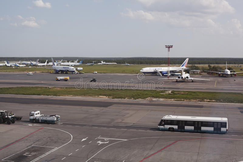 Domodedovo airport in Moscow, Russia stock images