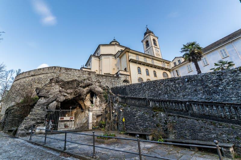 Domodossola, Sacro Monte del Calvario stockbilder