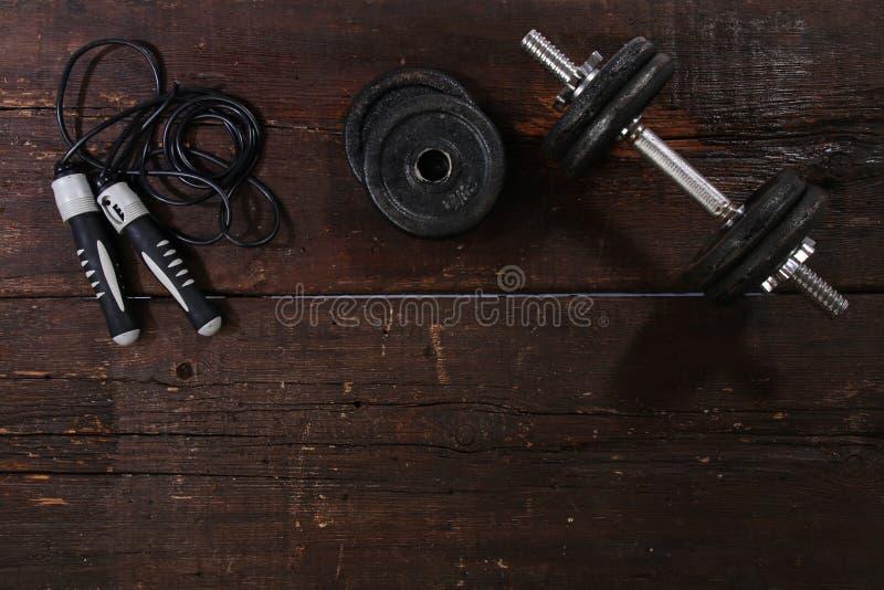 Domoor en een touwtjespringen royalty-vrije stock foto's