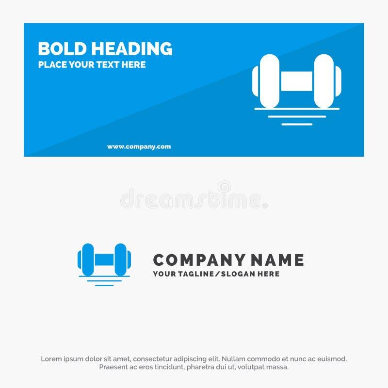 Domoor, Geschiktheid, Gymnastiek, de Websitebanner en Zaken Logo Template van het Lift Stevige Pictogram royalty-vrije illustratie