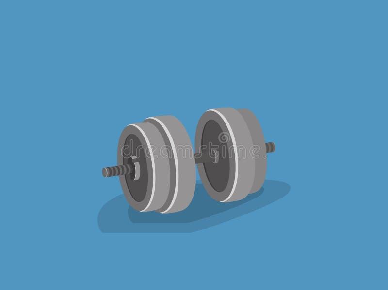 domoor voor trainingoefening Vectorillustratie van de beeldverhaal 3d stijl stock illustratie