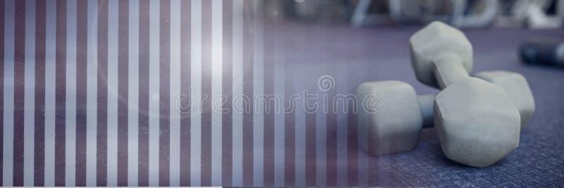 Domoorgewichten in Gymnastiek met overgang stock afbeeldingen