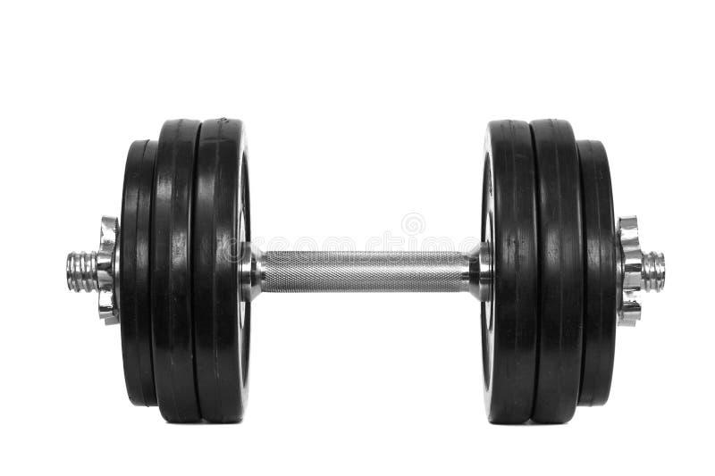 Domoren op een witte achtergrond worden geïsoleerd die Geschiktheid en bodybuilding concept royalty-vrije stock foto