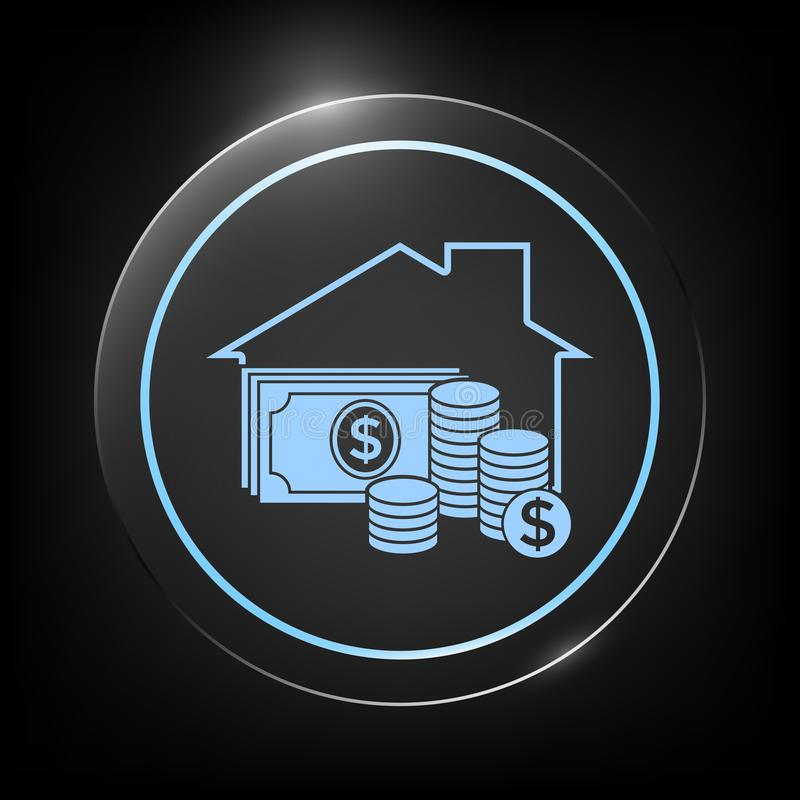 Domowa asekuracyjna ikona ilustracji