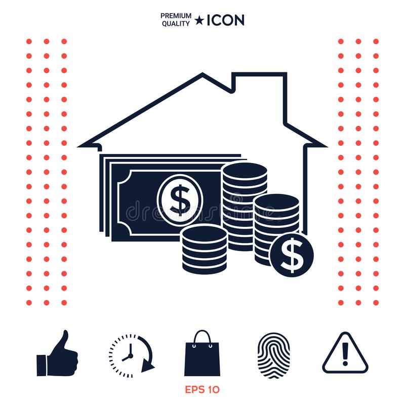Domowa asekuracyjna ikona royalty ilustracja