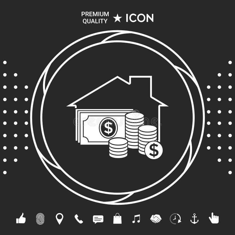 Domowa asekuracyjna ikona Graficzni elementy dla twój designt ilustracji