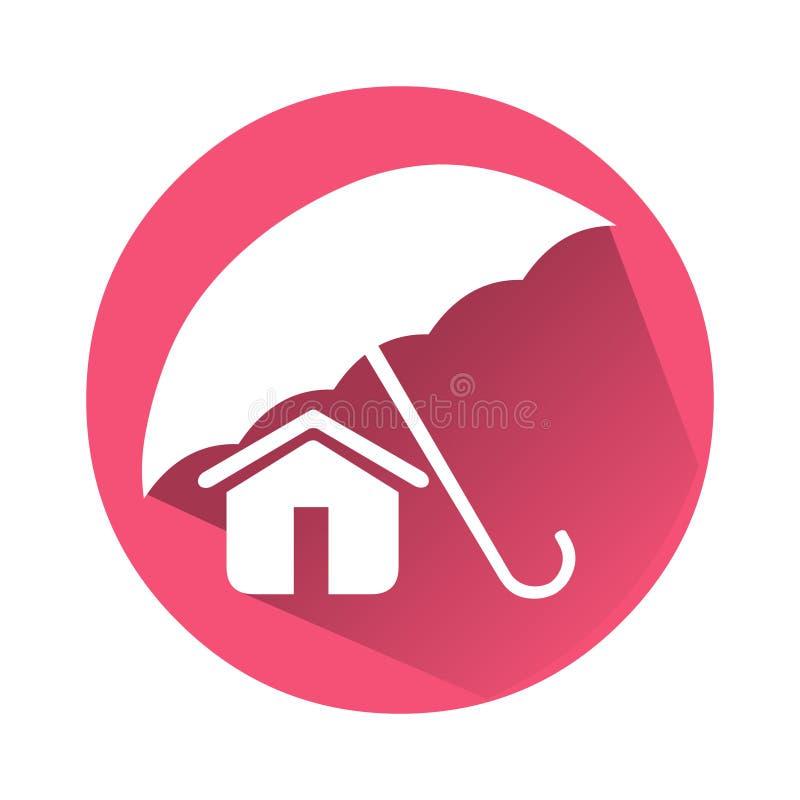 Domowa asekuracyjna ikona Wektor ikony domowy logo Skrytki domowa ikona ilustracji