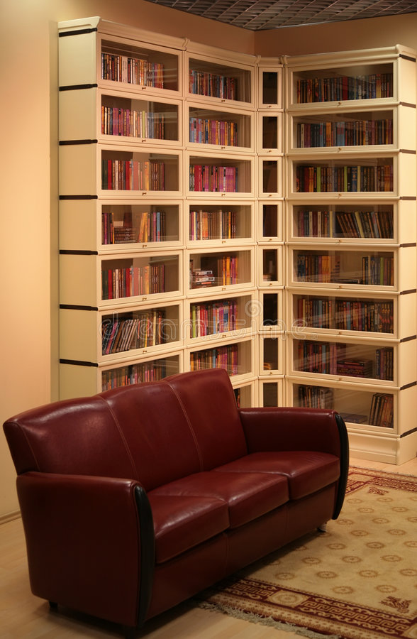 domowa biblioteka obraz royalty free