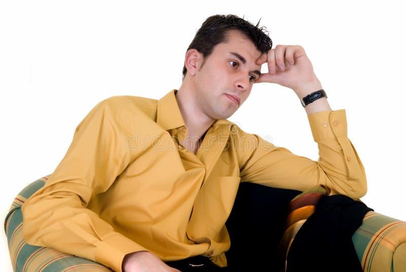 domowa biznesmen kanapa zdjęcia stock