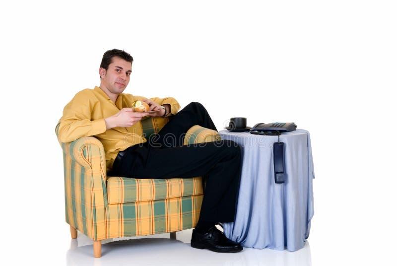 domowa biznesmen kanapa obrazy stock