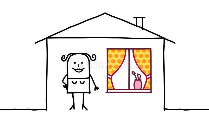 domowa dekoraci kobieta ilustracja wektor