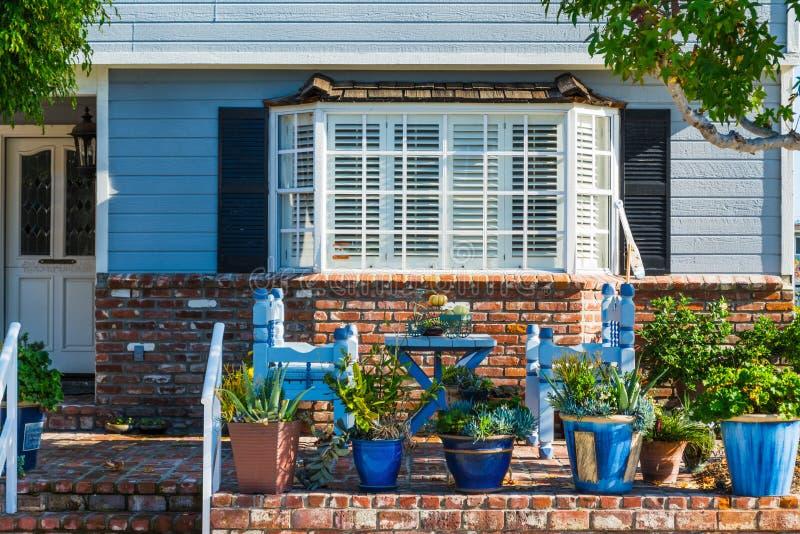 Domowa fasada w Los Angeles fotografia stock