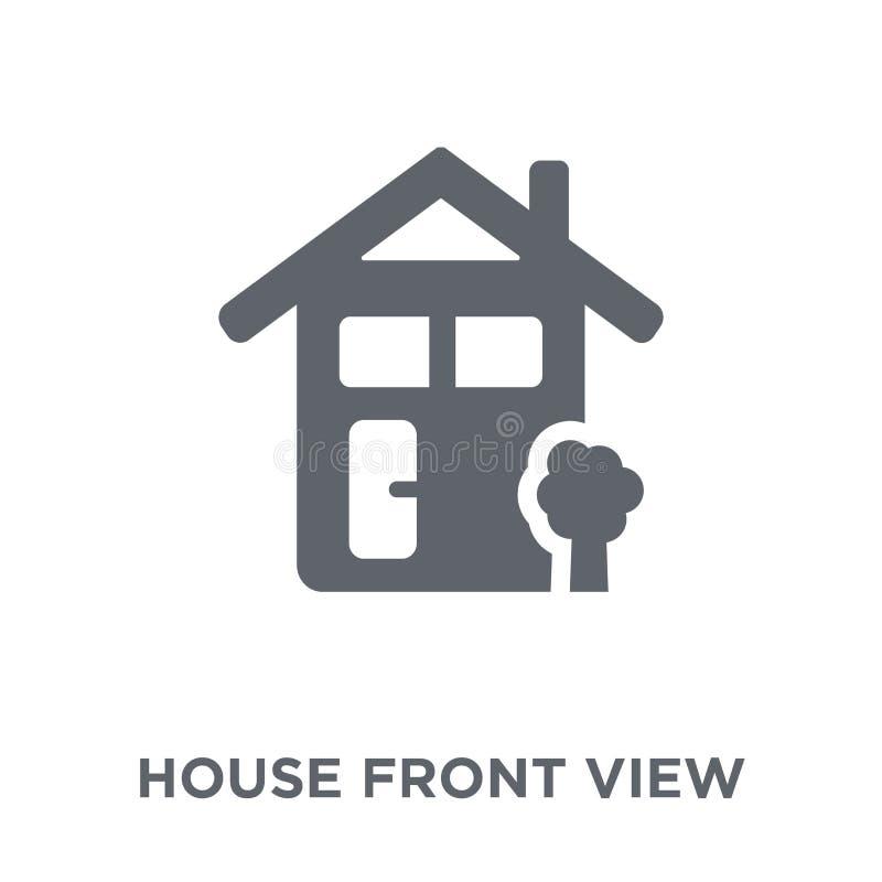 Domowa frontowego widoku ikona od nieruchomości kolekcji royalty ilustracja