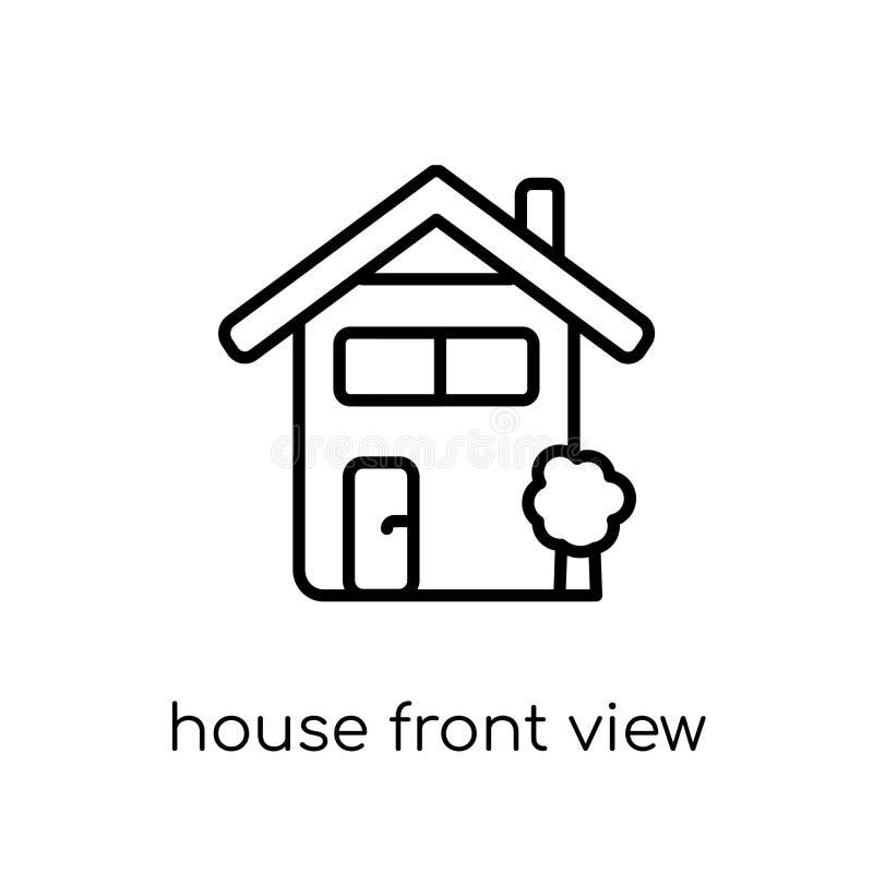Domowa frontowego widoku ikona od nieruchomości kolekcji ilustracja wektor