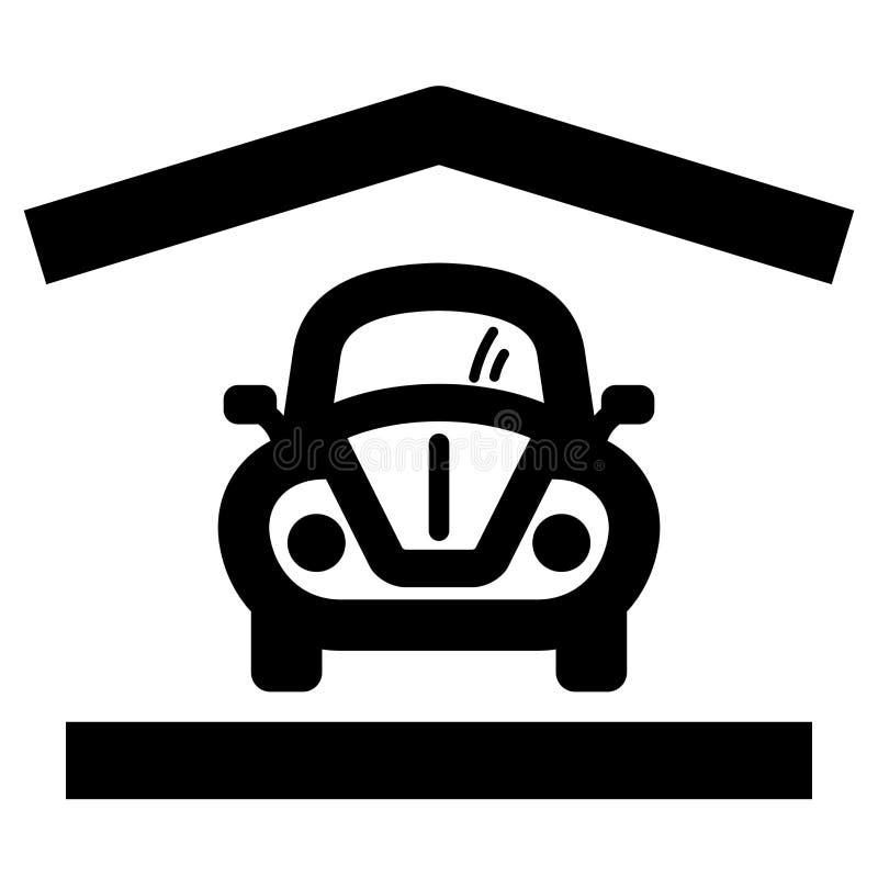 domowa garaż ikona ilustracja wektor