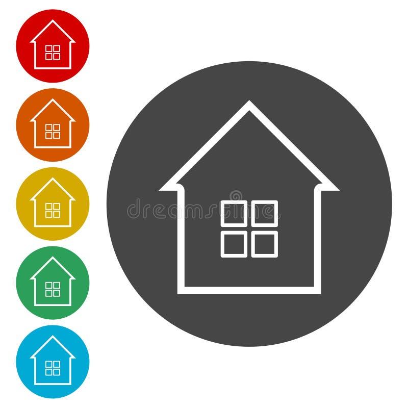 Domowa ikona, domowa ikona ilustracji