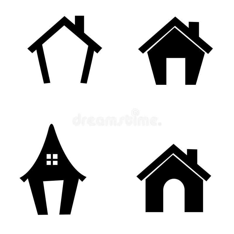 domowa ikona royalty ilustracja