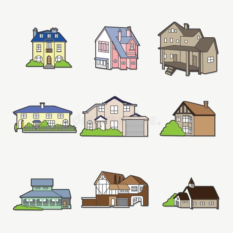 domowa ikona ilustracja wektor