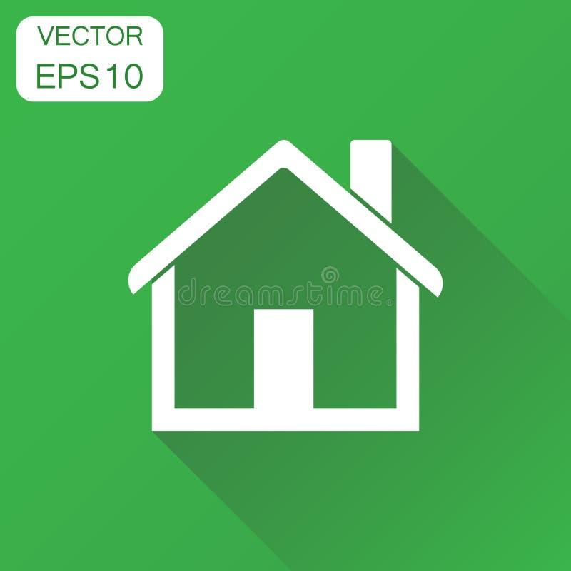Domowa ikona Biznesowy pojęcie domu mieszkania piktogram Wektor il ilustracji
