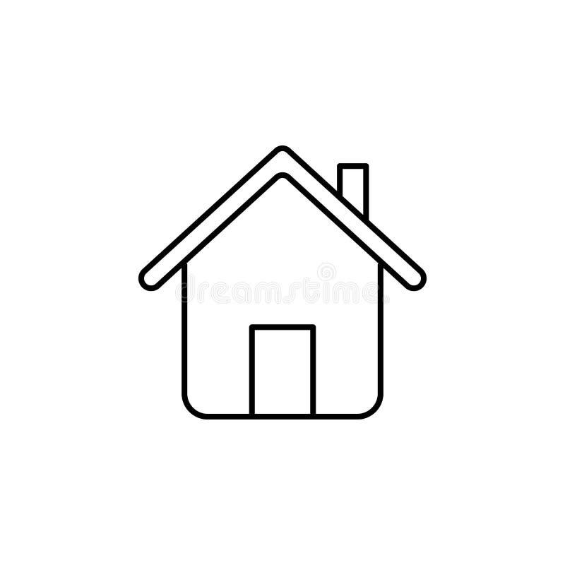 Domowa ikona Element prosta ikona dla stron internetowych, sieć projekt, wisząca ozdoba app, ewidencyjne grafika Cienka kreskowa  ilustracja wektor