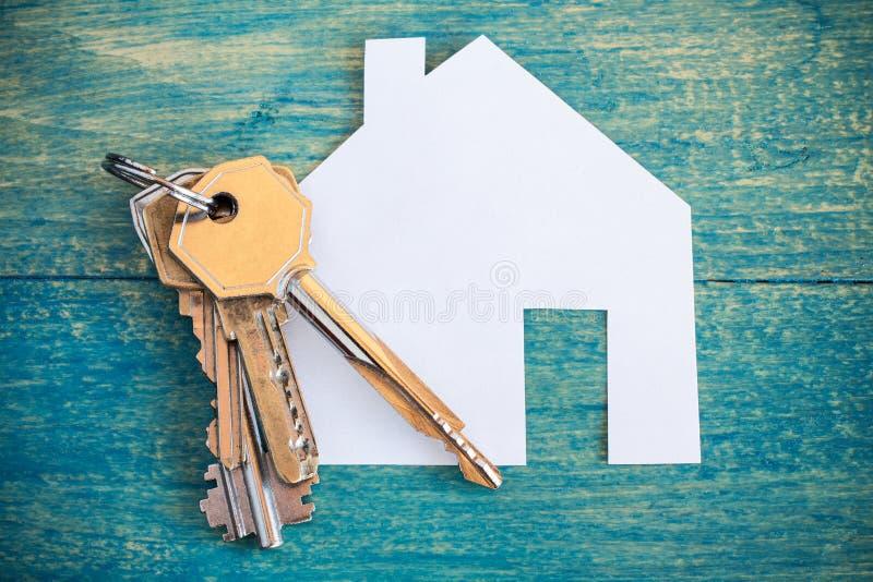 Domowa ikona i klucze zdjęcia royalty free