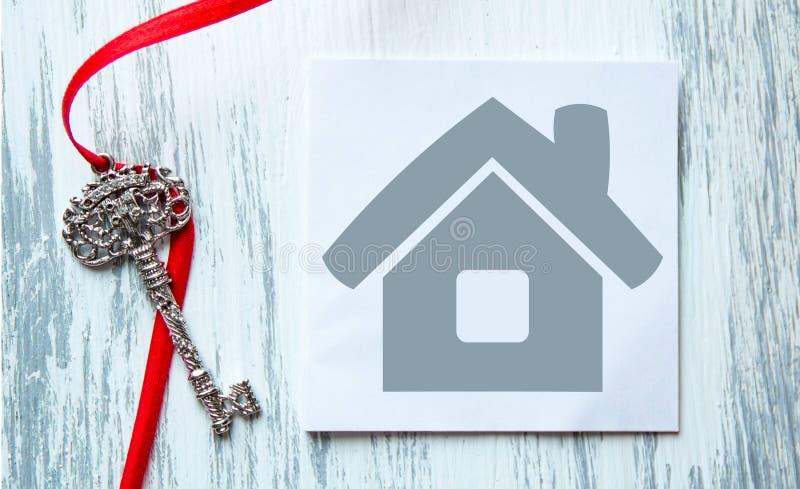Domowa ikona i klucze zdjęcie royalty free