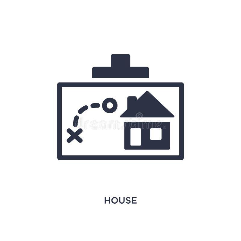 Domowa ikona na białym tle Prosta element ilustracja od strategii pojęcia royalty ilustracja