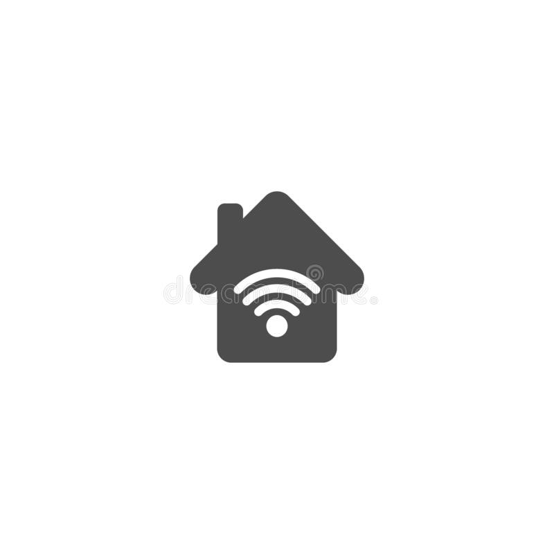 Domowa ikona z wi fi symbolu prostą wektorową ikoną Domowy bezprzewodowy interneta pojęcie ilustracji