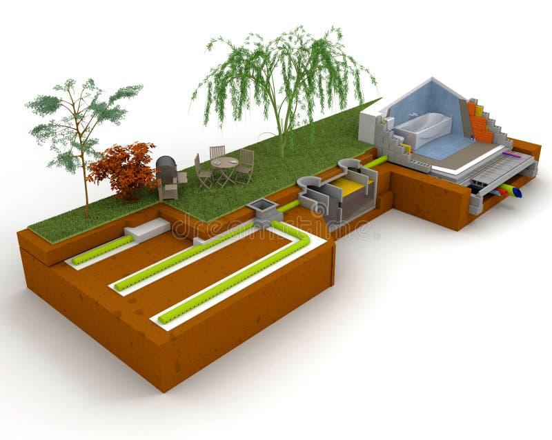 Domowa kanalizacyjna struktura royalty ilustracja