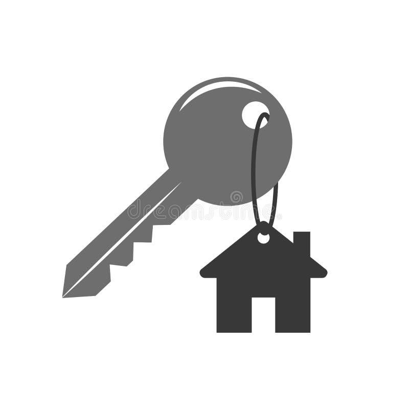 Domowa kluczowa ochrony ikona royalty ilustracja