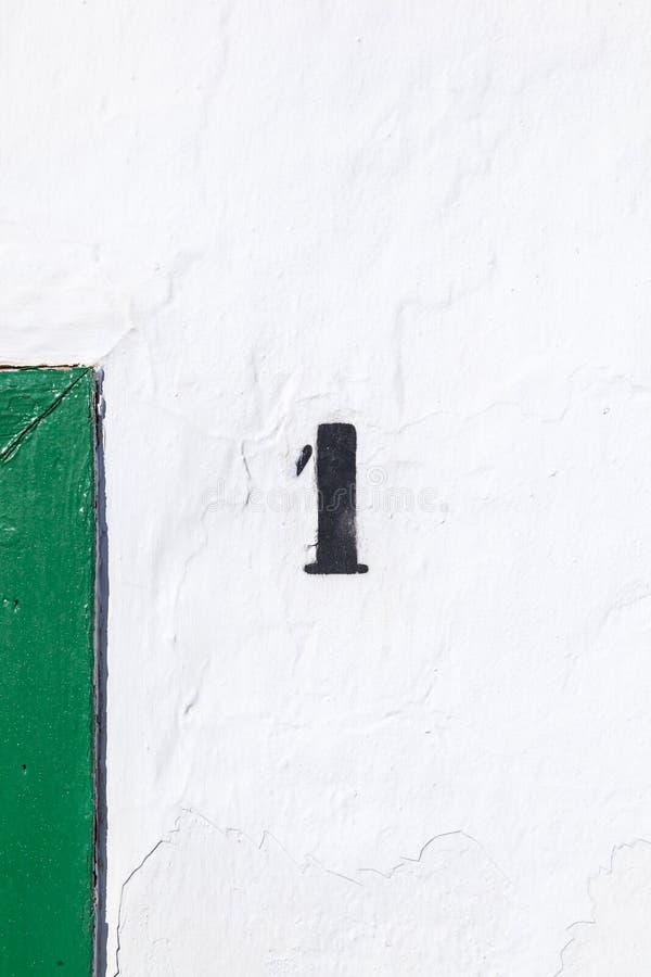 Domowa liczba jeden malująca obraz stock