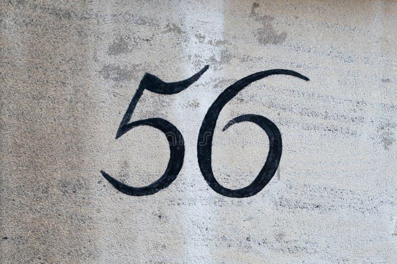 Domowa liczba 56 zdjęcia royalty free