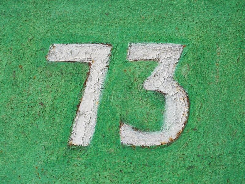Domowa liczba siedemdziesi?t trzy zdjęcia royalty free
