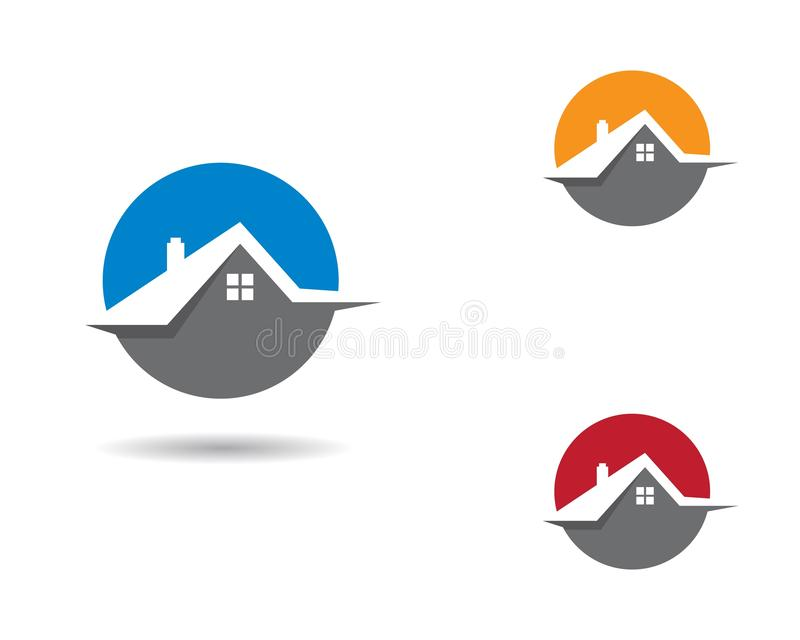 Domowa logo ilustracja royalty ilustracja