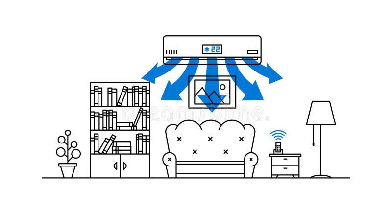 Domowa lotnicza conditioner wektoru ilustracja ilustracja wektor
