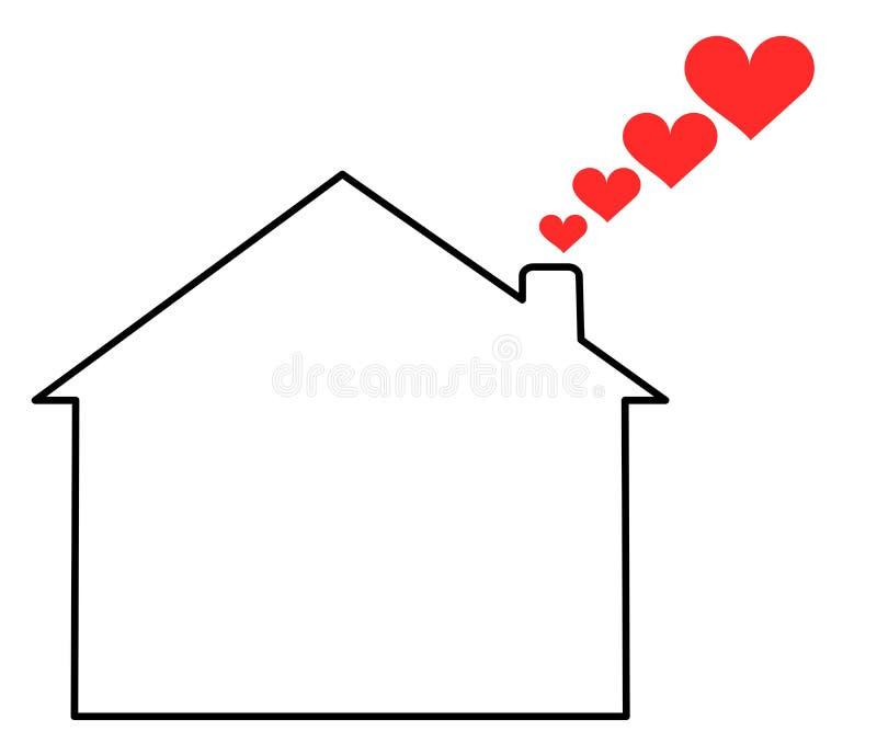 domowa miłość royalty ilustracja