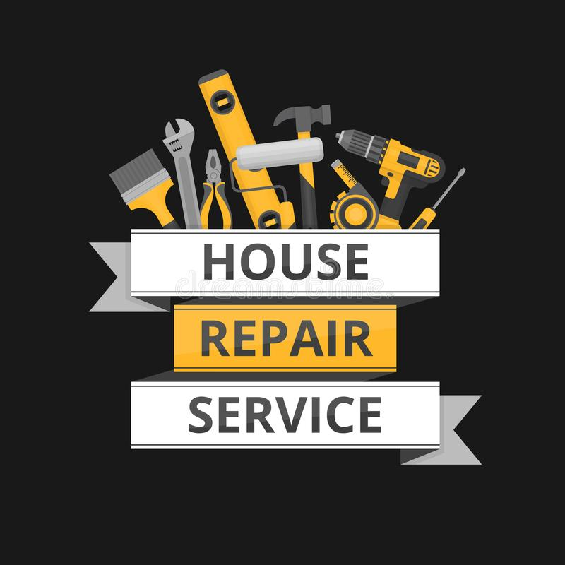 Domowa naprawa Ð ¡ onstruction narzędzia Ręk narzędzia dla domowego odświeżania ilustracji