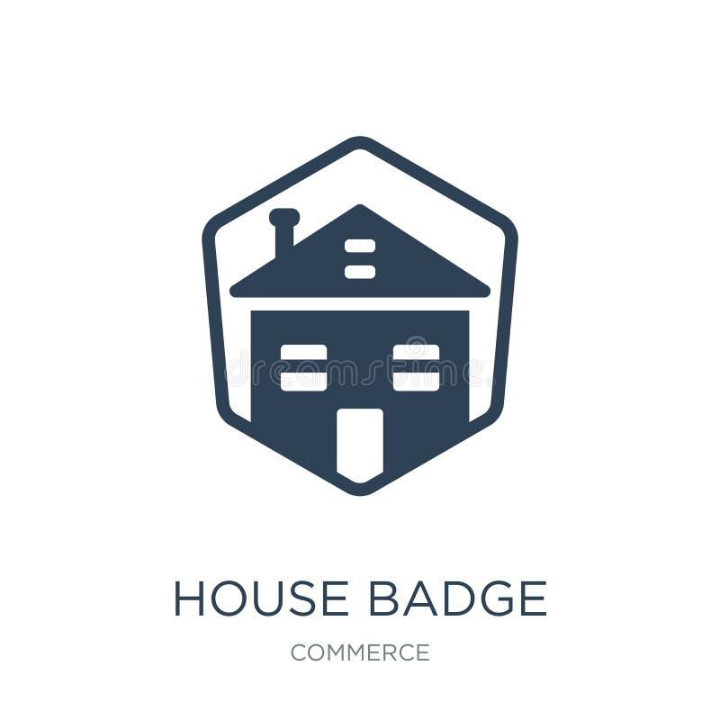 domowa odznaki ikona w modnym projekta stylu domowa odznaki ikona odizolowywająca na białym tle domowej odznaki wektorowa ikona p ilustracja wektor