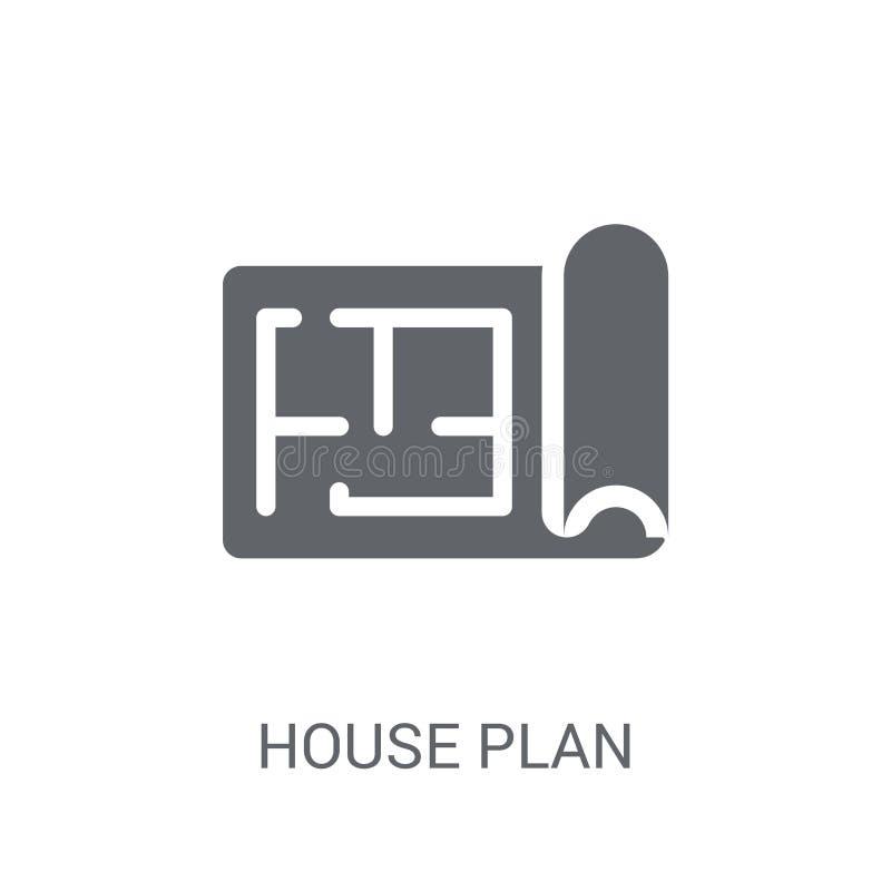 Domowa plan ikona  ilustracji