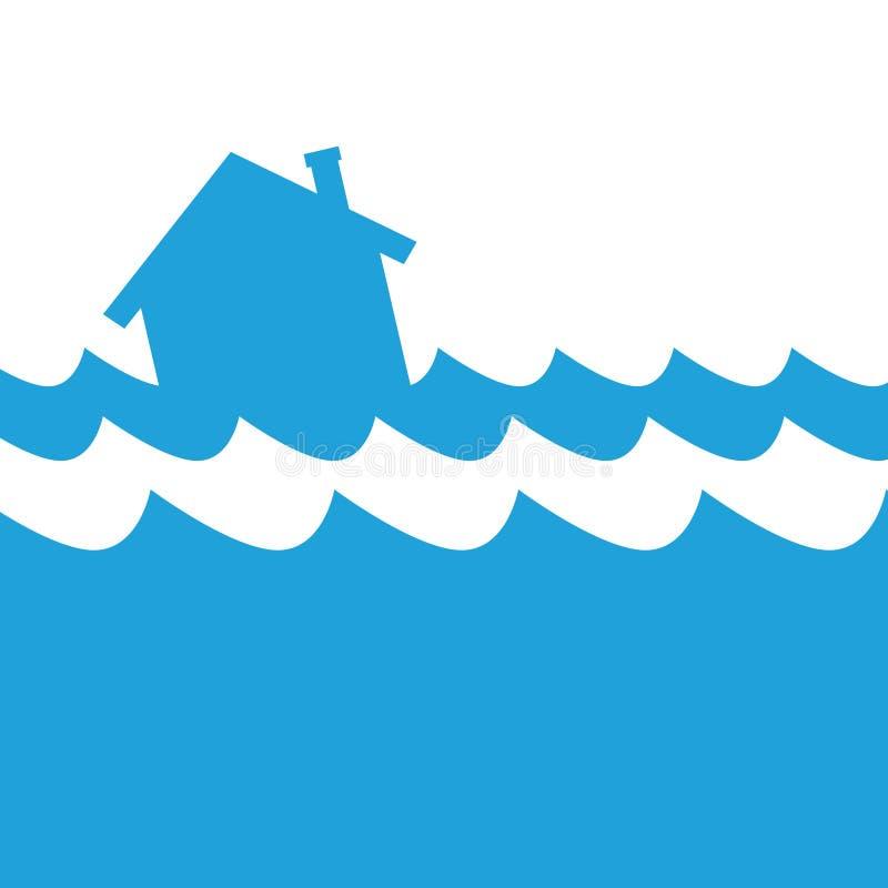 Domowa powodzi ikona ilustracji