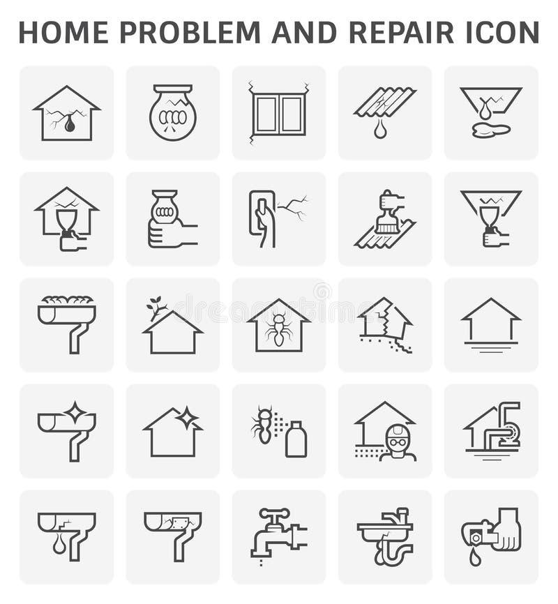 Domowa problemowa ikona ilustracja wektor