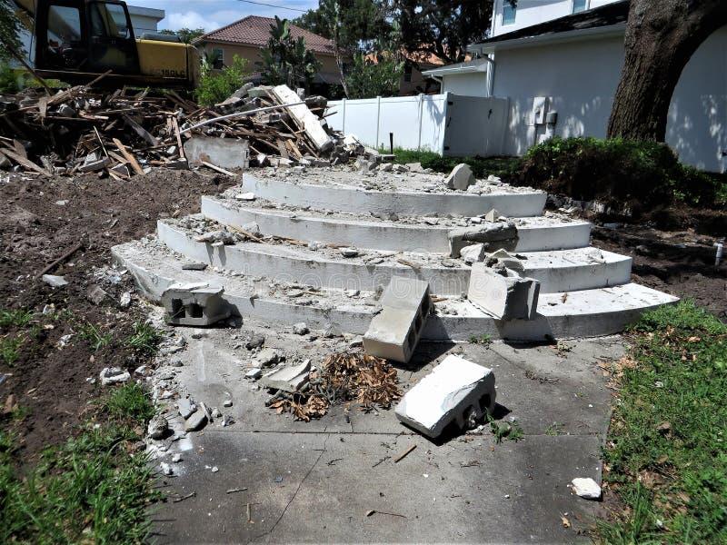 Domowa rozbiórka, Tampa, Floryda obrazy royalty free